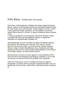 Felix Klaus - double bass, bass guitar