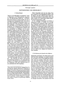 wittgenstein und spengler 1 - KRITERION | Journal of Philosophy