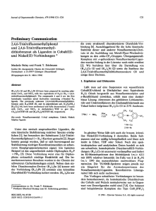 Preliminary Communication 2,4,6-Tris(trifluormethyl)phenyl und 2,4
