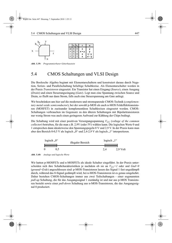 5.4 CMOS Schaltungen und VLSI Design