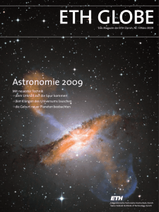 ETH Globe, Astronomie - ETH E-Collection