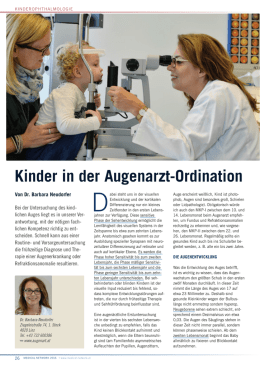 Kinder in der Augenarzt-Ordination