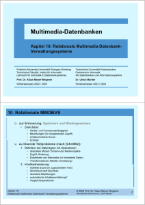 Multimedia-Datenbanken - Technische Universität Kaiserslautern