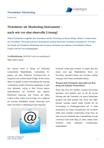 Newsletter als Marketing-Instrument