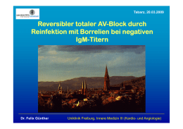 Reversibler totaler AV-Block durch Reinfektion mit Borrelien bei