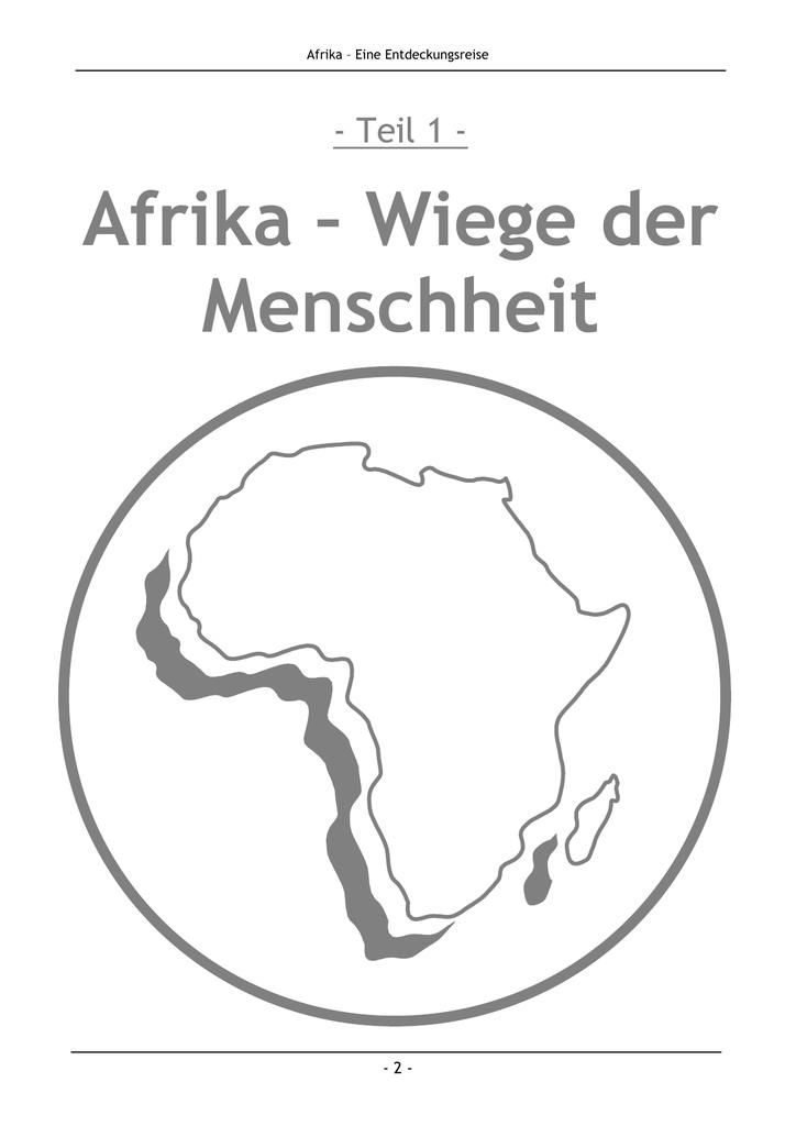 afrika als wiege der menschheit