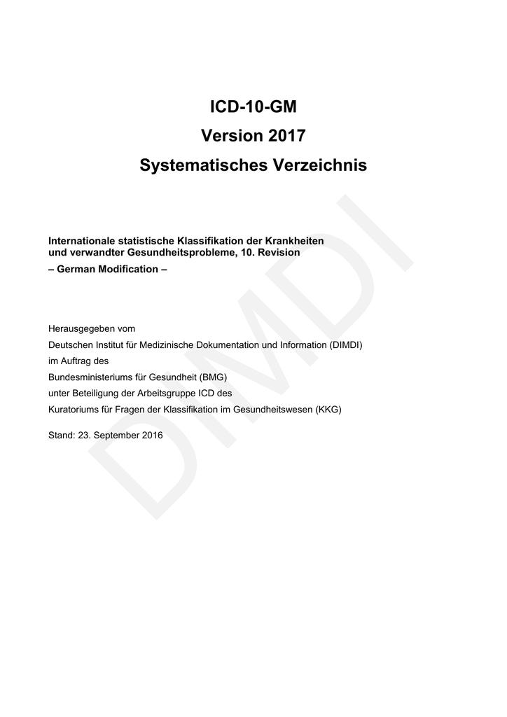 Amtl. ICD-Katalog (2017)