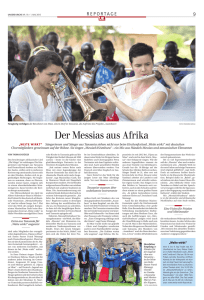 Der Messias aus Afrika