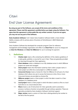 Citavi End User License Agreement