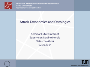 Attack Taxonomies and Ontologies