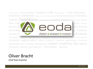 Oliver Bracht - Oracle Data Warehouse Community Seite
