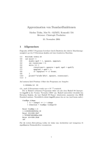 Approximation von Standardfunktionen