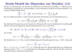 Drude-Modell der Dispersion von Metallen (11)