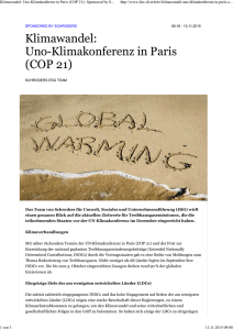 Klimawandel: Uno-Klimakonferenz in Paris (COP 21) | Sponsored