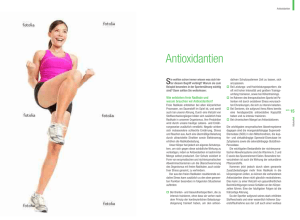Antioxidantien - Feel the energy