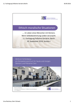 Ethisch-moralische Situationen - Palliative