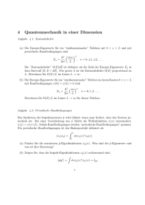 4 Quantenmechanik in einer Dimension
