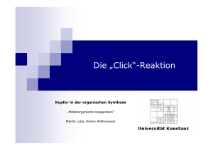 "Was ist ""Click""-Chemie?"