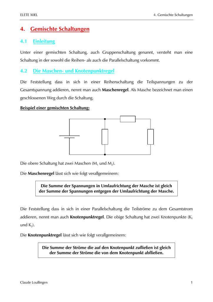 Fein Wie Man Elektronische Schaltkreise Versteht Ideen - Elektrische ...