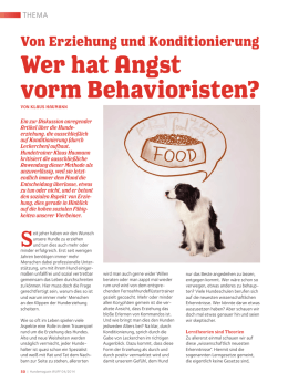 Wer hat Angst vorm Behavioristen?