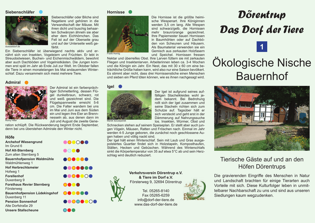 Dörentrup Das Dorf der Tiere Ökologische Nische Bauernhof