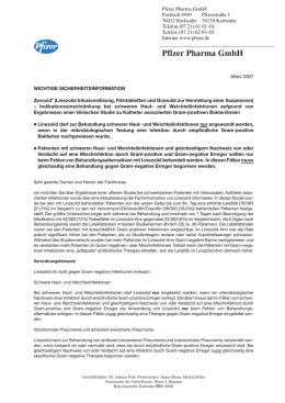 Dear Doctor Letter Zu ZyvoxidR Linezolid