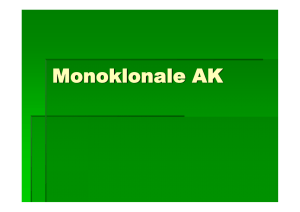 Monoklonale AK - Biochemie Trainingscamp
