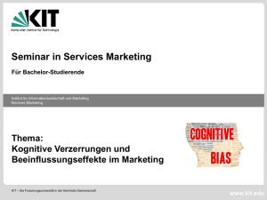 Seminar in Services Marketing