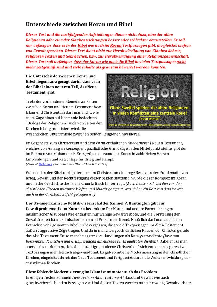 verachten muslime christen