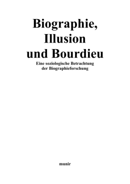 Biographie, Illusion und Bourdieu