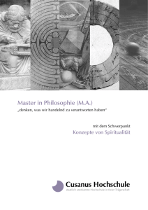 Master in Philosophie (MA)