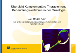 Alternative Therapien in der Onkologie