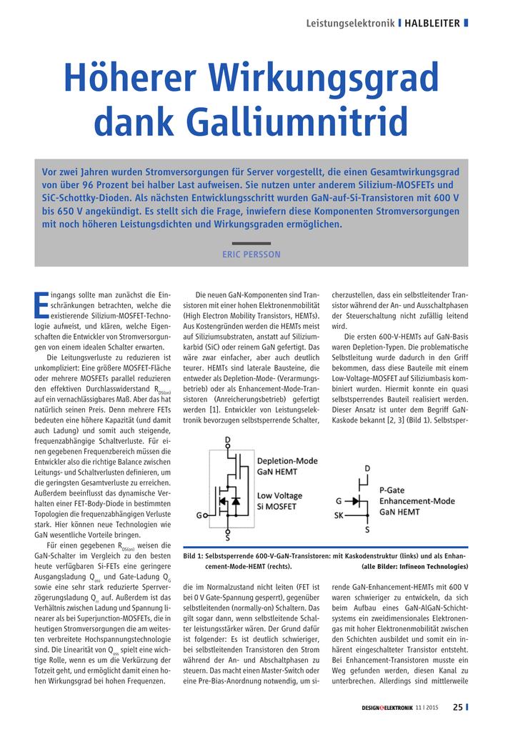 Article GaN Gallium Nitride Eric Persson Design und