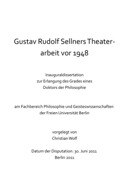 Gustav Rudolf Sellners Theater
