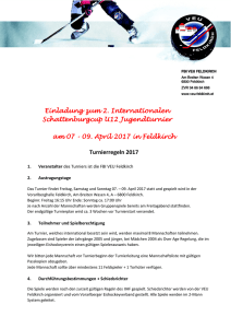 Einladung zum 2. Internationalen Schattenburgcup U12