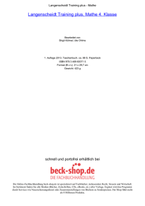 Langenscheidt Training plus, Mathe 4. Klasse - Beck-Shop