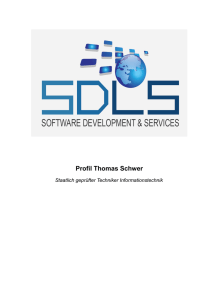 Profil Thomas Schwer - Thomas Schwer, SDLS Software Internet
