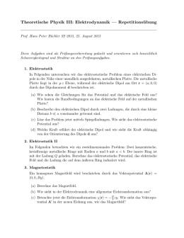 ELEKTRODYNAMIK SKRIPT PDF