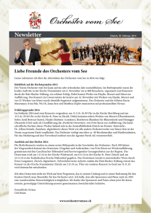 Newsletter - Orchester vom See