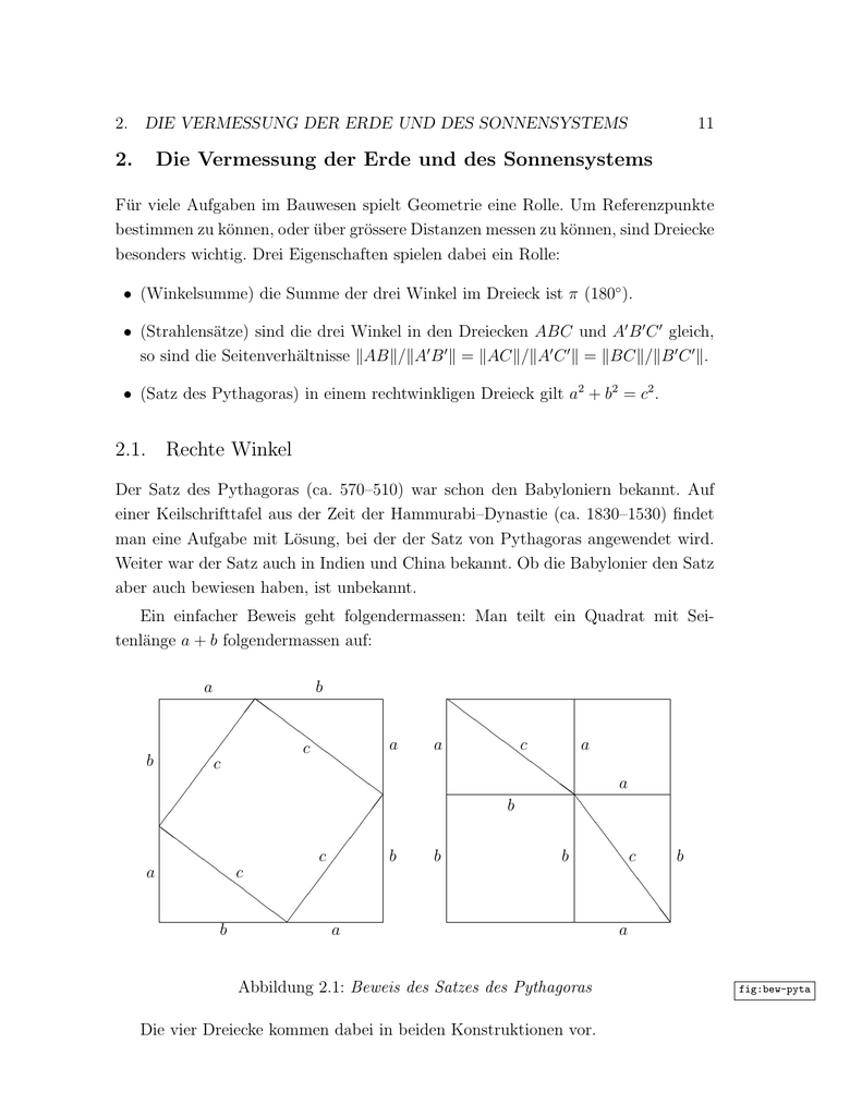 Atemberaubend Mathematik Satz Des Pythagoras Arbeitsblatt Bilder ...