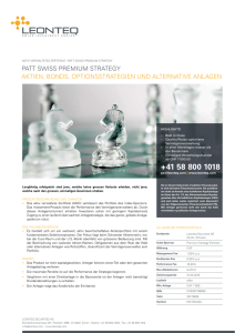 patt swiss premium strategy aktien, bonds, optionsstrategien und