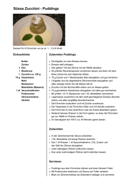 Süsse Zucchini Puddings