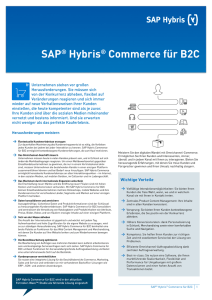 SAP® Hybris® Commerce für B2C