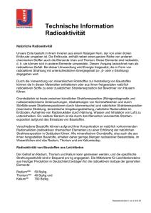 Vor-und Nachteile der radioaktiven Datierung