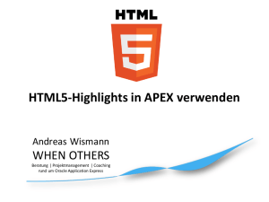 HTML5-Highlights in APEX verwenden
