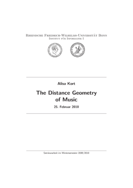 The Distance Geometry of Music