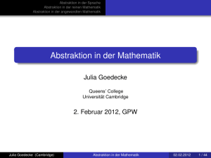 Abstraktion in der Mathematik