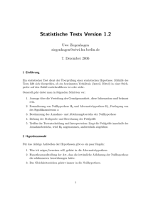 Statistische Tests Version 1.2