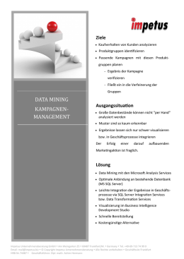 data mining kampagnen- management