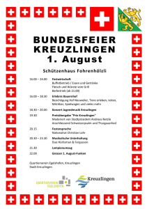 BUNDESFEIER 1. August